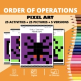 Halloween Math: Order of Operations Pixel Art Mystery Pictures