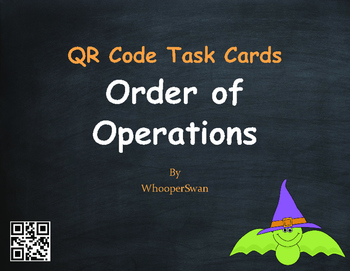 Halloween Math: Order of Operations QR Code Task Cards