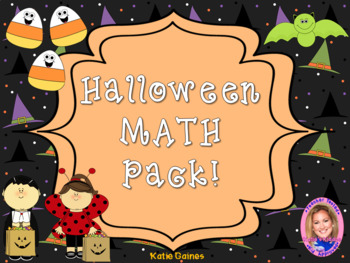 Halloween Math Pack- Addition, Subtraction, Time GALORE!