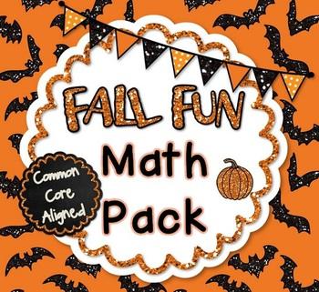 Fall Fun Math Pack! - Common Core Aligned