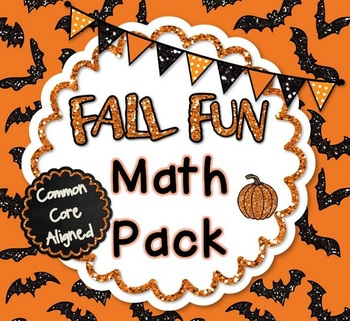 Fall Fun Math Pack! - Common Core Aligned