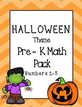 Halloween Math Pack Numbers 1-5