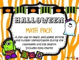 Halloween Math Pack: Sorting & Counting/Number Identification
