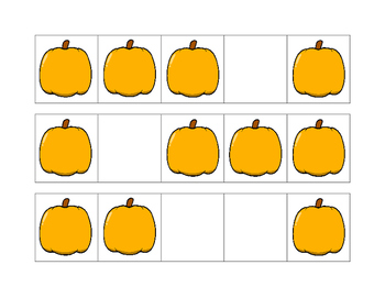 Halloween Math Pack for Counting and Representing Numbers 1-5