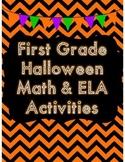 First Grade Halloween Math & ELA Activities