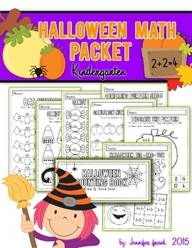 Halloween Math Packet: Kindergarten