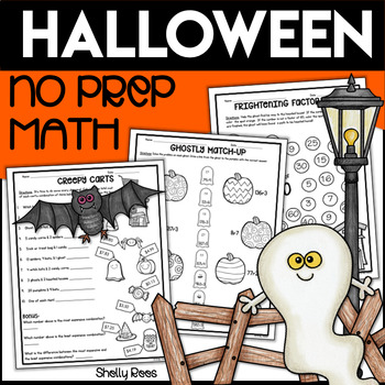 Halloween Math Packet - Multiplication, Division, Factors, Money, More!