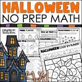 Halloween Math Packet {No Prep Halloween Activities}