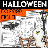Halloween Math Packet {No Prep Halloween Activities}