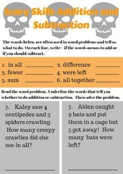 Halloween Math Packet: Spooky Second Grade Skills