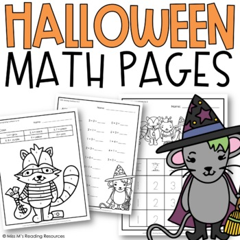 Halloween Math Pages