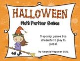 Halloween Math Partner Games