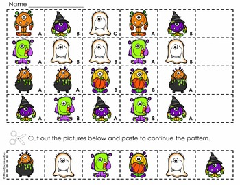Halloween Math Patterning