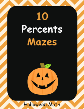Halloween Math: Percents Maze