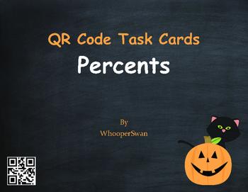 Halloween Math: Percents QR Code Task Cards