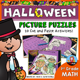 Halloween Math Picture Puzzles {1st Grade}