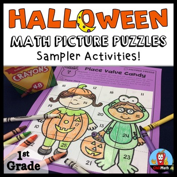 Halloween Math Picture Puzzles Sampler (FREE)