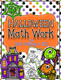 Halloween Math Pictures (color by code math pictures)