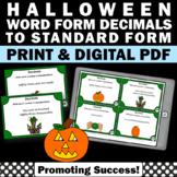 Halloween Math 5th Grade, Halloween Place Value Task Cards Pumpkin Theme