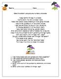 Halloween Math Poem