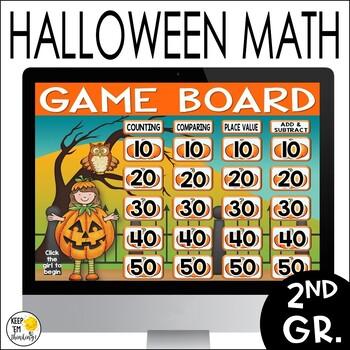 Halloween Jeopardy Style Math Game Show - Editable!