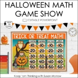 Halloween Math Review Game Show 2nd Grade : An Editable Po