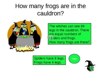 Halloween Math Powerpoint Quiz - FUN CLASS ACTIVITY