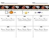 Halloween Math Practice - Expanded Form & Making groups of 10