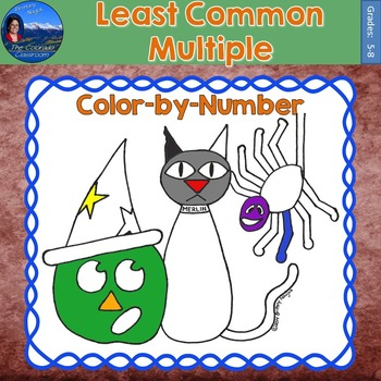 Least Common Multiple (LCM) Math Practice Halloween Color by Number
