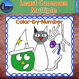 Least Common Multiple (LCM) Math Practice Halloween Color