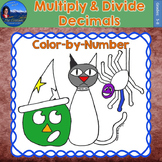 Multiply & Divide Decimals Math Practice Halloween Color b