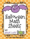 Halloween Math Practice Sheets