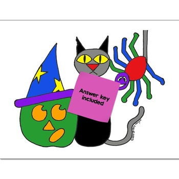 Single Digit Addition Math Practice Halloween Color by Number