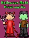 Halloween Math Print and Go