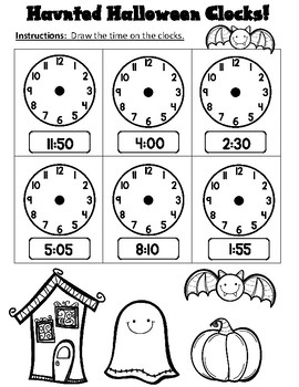 Halloween Math Print and Go