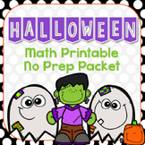 Halloween Math Printable No Prep Packet