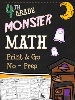 Halloween Math Printables - Fourth Grade
