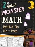 Halloween Math Printables - Second Grade