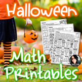 Halloween Math Printables and Activities for Big Kids FUN