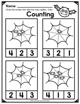 Halloween Math Printables for Preschool