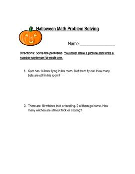 Halloween Math Problem Solving