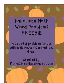 Halloween Math Problem Solving Activities