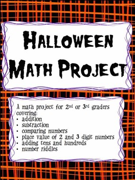 Halloween Math Project - A Mid Semester Review of Skills
