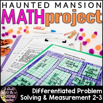 Halloween Math Project: Measurement for Grades 2-4 {3 diff