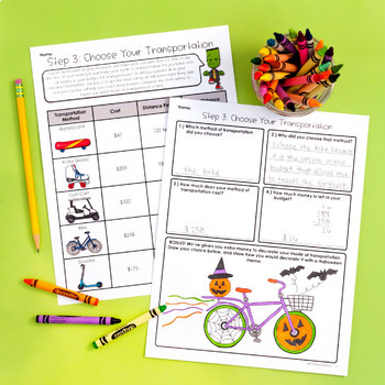 Halloween Math Project - Project Based Learning Activity (PBL)