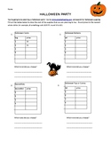 Halloween Math Project number patterns and tables