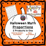Halloween Fall Proportions Bundle Maze & Color by Number C