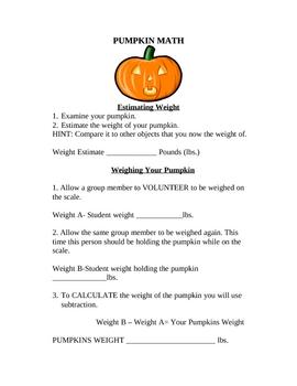 Halloween Math (Pumpkin)