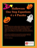 Halloween Math Puzzle - One Step Equations