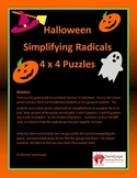 Halloween Math Puzzles - Simplifying Radicals